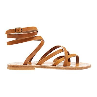 Zenobie Wraparound Leather Sandals