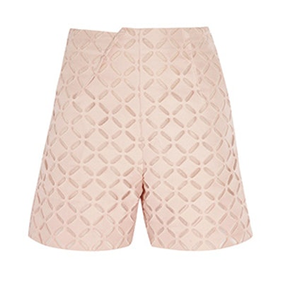 Kelton Broderie Anglaise Cotton And Silk-Blend Shorts