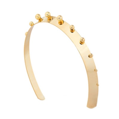 Mercury Studded Gold-Plated Headband