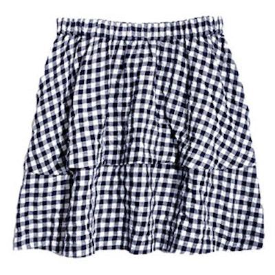 Gingham Tier Mini Skirt