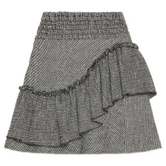 Frilled Jacquard Skirt