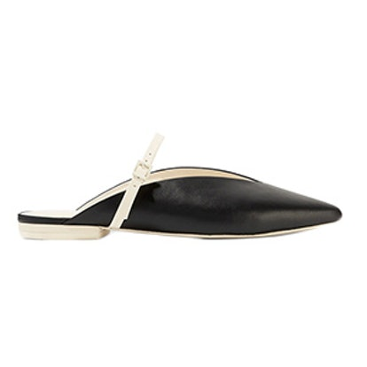 Talis Two-Tone Leather Slippers