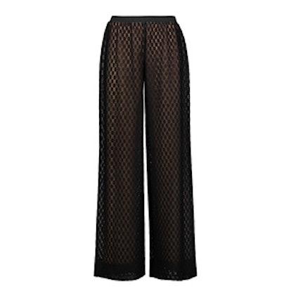 Crochet-Knit Wide-Leg Pants
