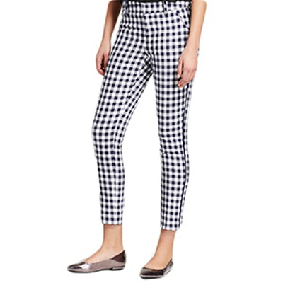 Women's Gingham Classic Ankle Pants