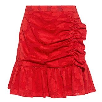 Elmira Floral Damask Ruffle Mini Skirt