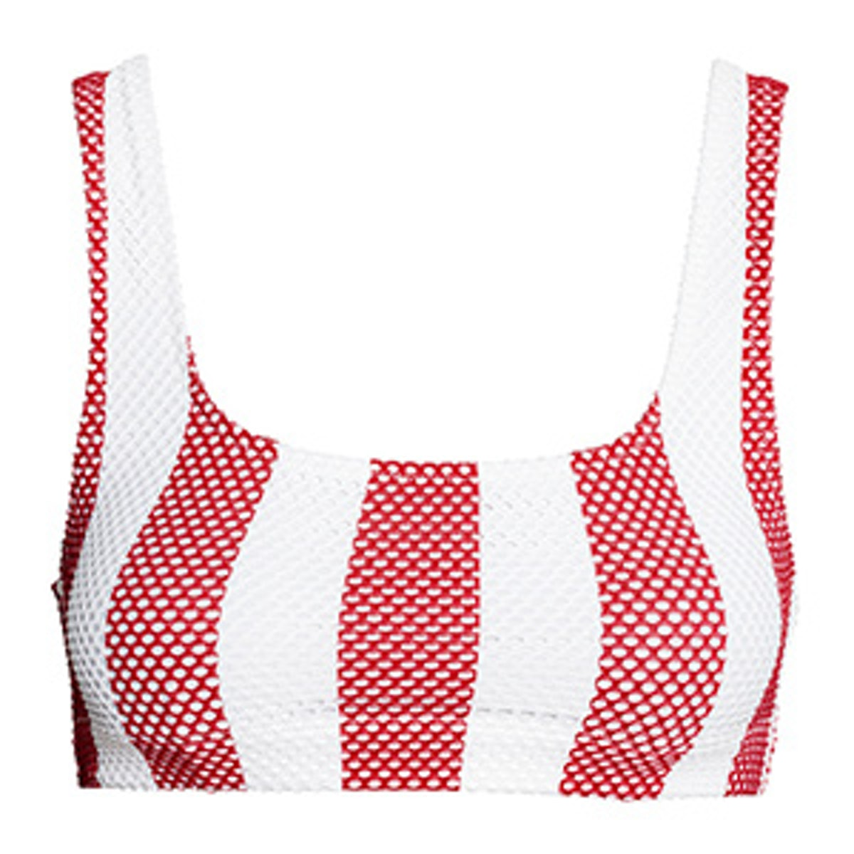 Perforated-Pattern Bikini Top