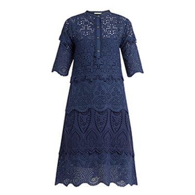Arabella Broderie-Anglaise Cotton Dress