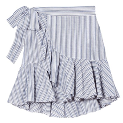 Yarn-Dyed Striped Skirt