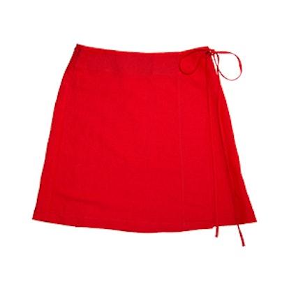 Season Mini Wrap Linen Skirt