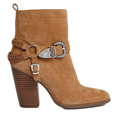 Suede Western Buckle Boots