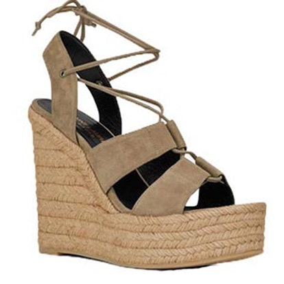 Espadrille 85 Lace Up Wedge