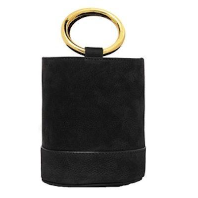 Bonsai 15 Mini Nubuck Bucket Bag in Black