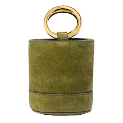 Bonsai 15 Mini Nubuck Bucket Bag in Moss
