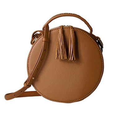 Hampton Crossbody Leather Circle Bag