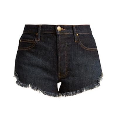 The Cut Off Raw Hem Denim Shorts