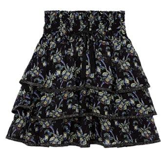 Saint Rémi Print Ruffled Skirt
