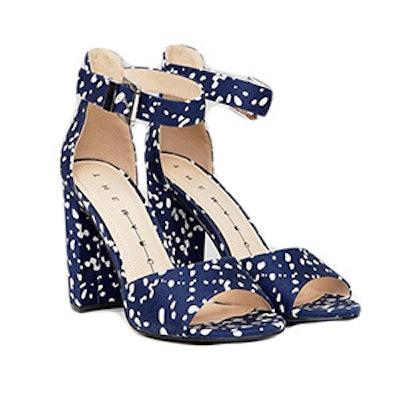 Spot Block Heeled Sandals