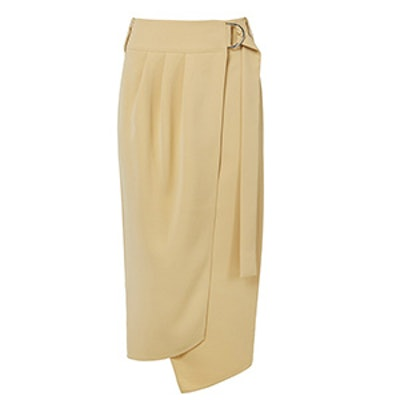 Drape Twill Wrap Skirt