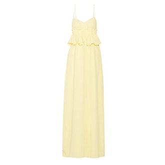 Silk Georgette Peplum Gown