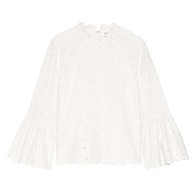 Grace Broderie Anglaise Cotton and Linen-blend Blouse