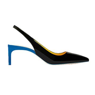 Contrast Mid-Heel Shoes