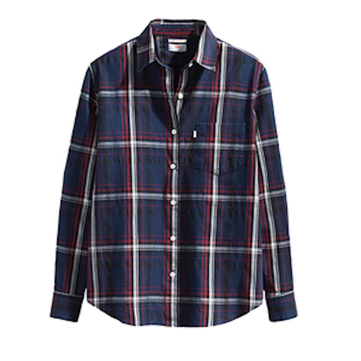 Sidney One Pocket Boyfriend Shirt