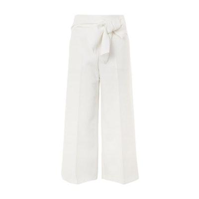 Bond Tie Crop Wide Leg Trousers