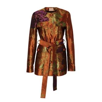Jalene Floral Jacquard Coat