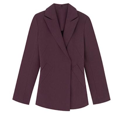 Tailored Wool Blend Blazer