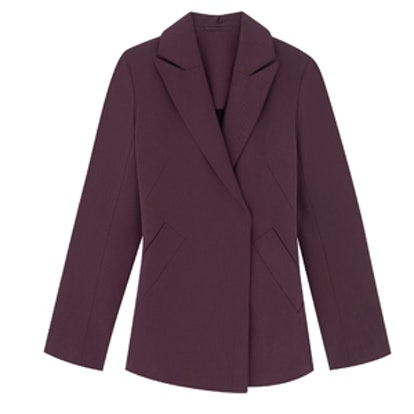 Tailored Wool Blend Blazer