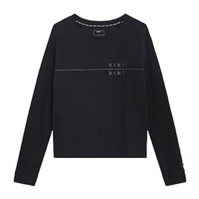 Sweatshirt With Ribbed Back Hem