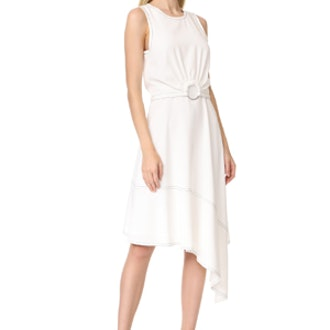 Sleeveless Dress With Ring Detail