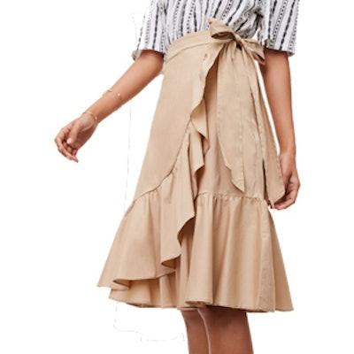 Ruffled Wrap Skirt