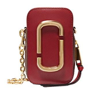 Hotshot Two-Tone Textured-Leather Shoulder Bag