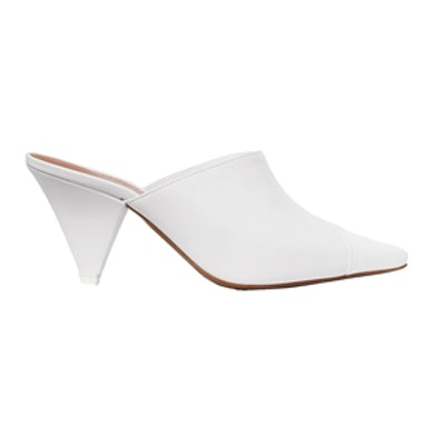 Paneled Leather And Perspex Mules