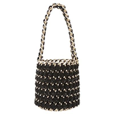 Gold Chain Shimmer Bucket Bag