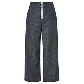 Moto Tailored Cropped Wide Leg Jeans