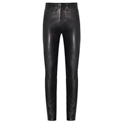 """Kate 10"""" Skinny In Leather In Black"""