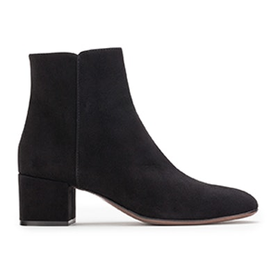 Velour Ankle Boot