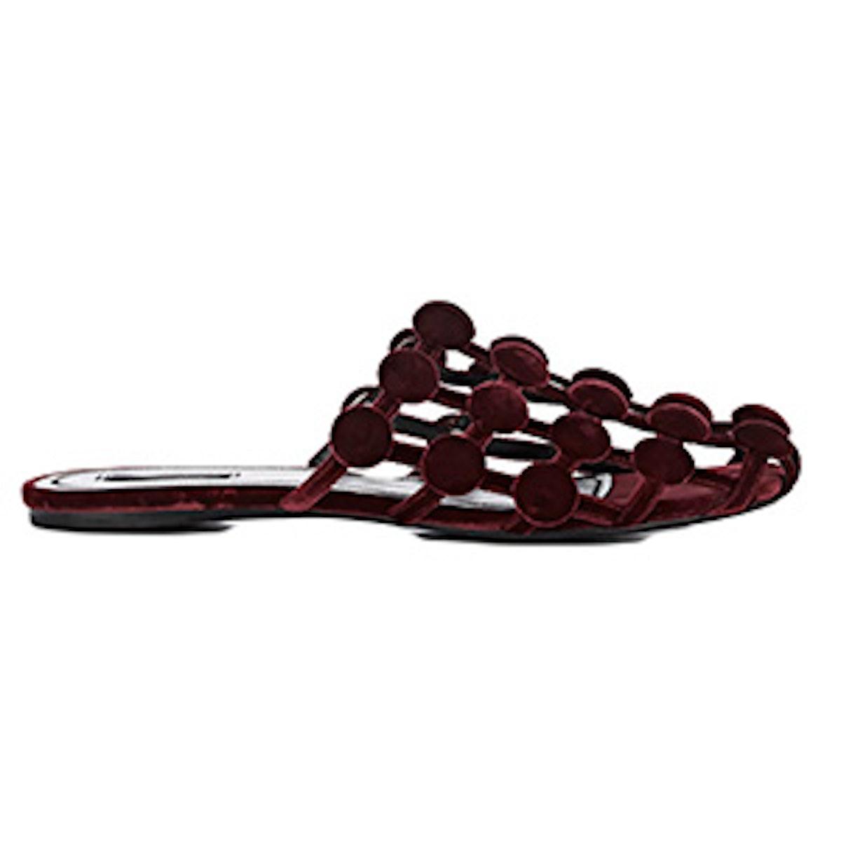 Alexander Wang Amelia Velvet Slide Sandals