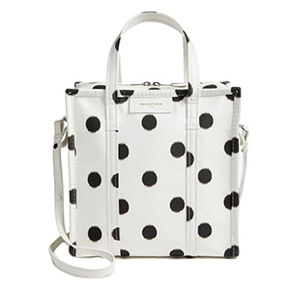 Small Polka Dot Bazar Silk Shopper