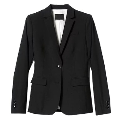 Long-And-Lean Fit Lightweight Wool Blazer
