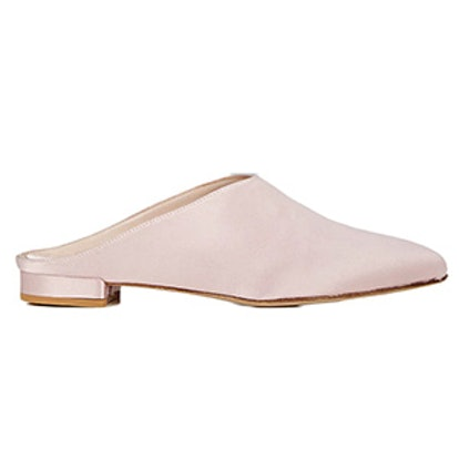 Satin Pointed-Toe Mules