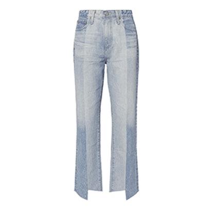 Phoebe Two-Tone Step Hem Jeans