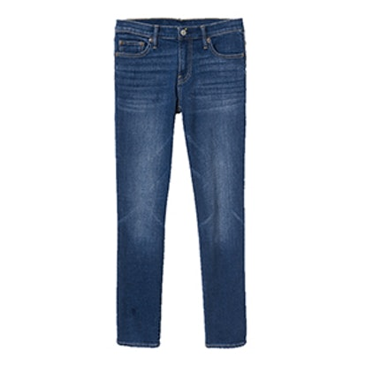 Mid-Rise Real Straight Jeans