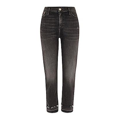 Black Bella Released Hem Straight Leg Jeans