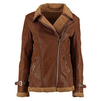 Lauren Faux Shearling Aviator Jacket