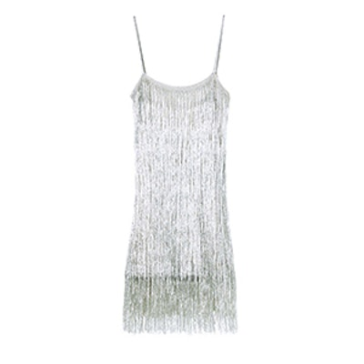 Della Fringe Metallic Dress