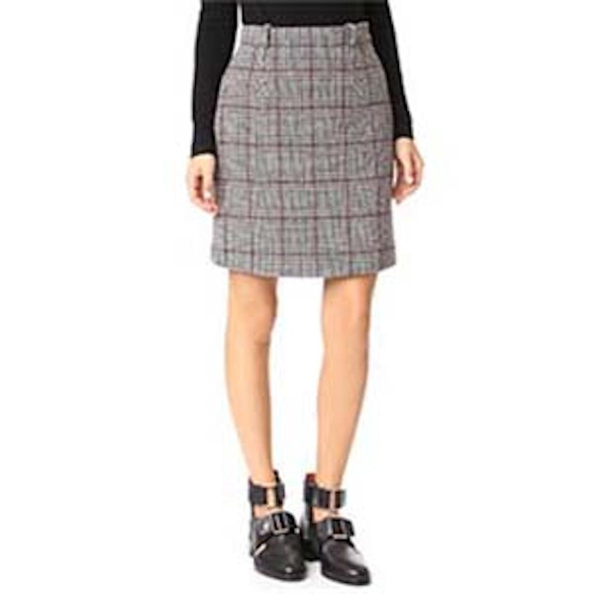 Houndstooth Miniskirt