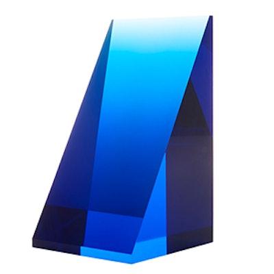 Deep Blue Acrylic Bookend